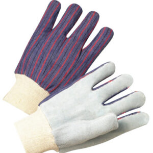 Anchor Brand Leather Palm Knit Wrist Cotton Gloves