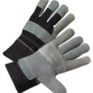 Anchor Brand Leather Palm Denim Back Gloves