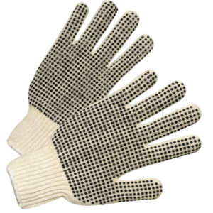 Anchor Brand Medium Weight Seamless String-Knit Gloves with Double-Sided PVC Dot Grips