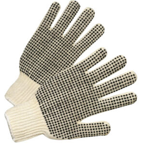 Anchor Brand Medium Weight Seamless String-Knit Gloves with Single-Sided PVC Dot Grips