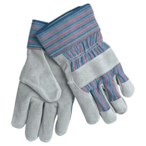 MCR Safety Leather Palm Chore Gloves