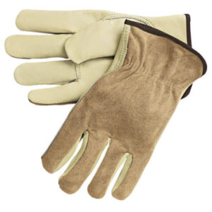 MCR Safety Premium-Grade Leather Driving Gloves