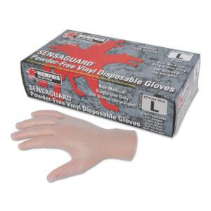 MCR Safety SENSAGUARD Powder-Free Vinyl Disposable Gloves