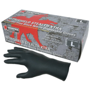 MCR Safety NitriShield Stealth Extra Gloves