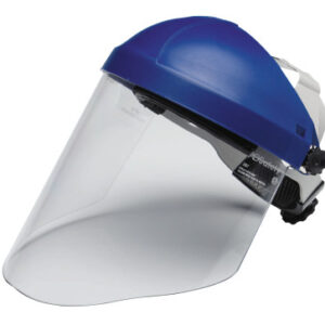 3M Personal Safety Division Ratchet Headgear H8A with 3M Clear Polycarbonate Faceshield WP96