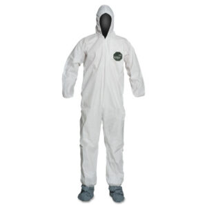 DuPont  ProShield® 50 Hooded Coveralls w/Attached Boots and Elastic Wrists