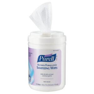 Gojo Purell Alcohol Formulation Sanitizing Wipes