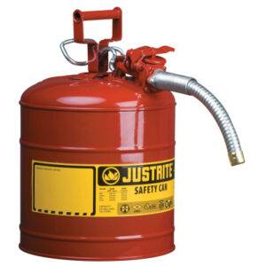 Justrite Type II AccuFlow Safety Cans