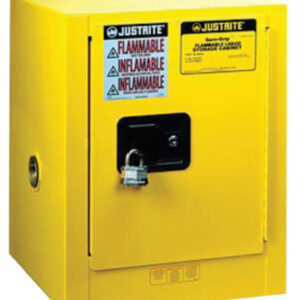 Justrite Yellow Countertop & Compact Cabinets