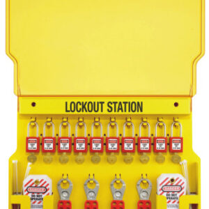 Master Lock Safety Series Lockout Stations with Key Registration Cards