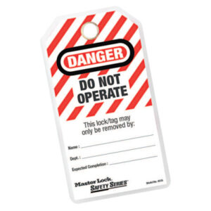 """Master Lock Safety Series """"Do Not Operate"""" I.D. Tags"""