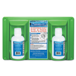 First Aid Only® Eye & Skin Flush Emergency Station/Replacement Twin Bottles