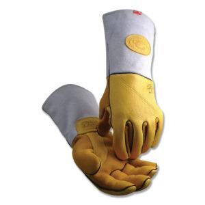 Caiman® 1485 Series Gold Elk Grain Heavy-Duty Welding Gloves