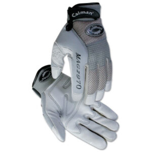 Caiman M.A.G. Gray Deerskin Mechanics Gloves