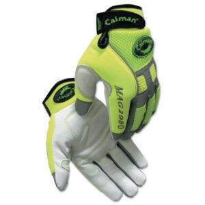 Caiman White Goat Grain Leather Multi-Activity Gloves