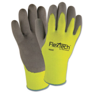 Wells Lamont FlexTech Hi-Visibility Knit Thermal Gloves with Latex Palm