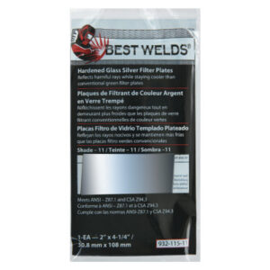 Best Welds Glass Silver Mirror Filter Plate