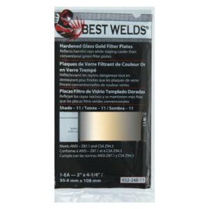 Best Welds Hardened Glass Gold Filter Plates